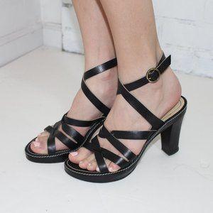 Kenneth Cole Black Wrap Sandals